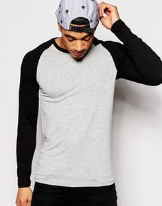 ASOS Extreme Muscle Fit Long Sleeve T-Shirt With Contrast Raglan Sleeves And  Stretch Modelos 2abd3e2c257
