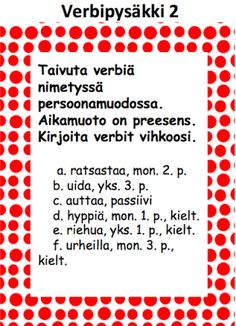 Verbejä ja historiaa Special Needs Teaching, Teaching Reading, Teaching Ideas, Grammar, Alphabet, Literature, Language, Classroom, Writing