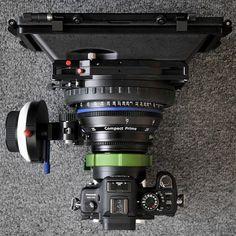 "1,511 Gostos, 34 Comentários - Camera grail™ (@cameragrail) no Instagram: ""Zeiss ""Compact Prime"" on a GH1, using a Hot Rod camera mount adapter. 🔥"""