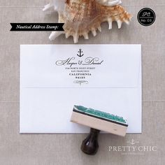 Anchor Address Stamp Nautical Stamp by Pretty by prettychicsf, $48.00