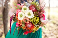 woodsy glamping inspired bouquet