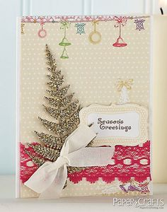 Vintage Fern Card by @Ashley N Newell