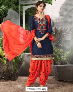 Work: Designer Pure Cotton Patiyala Suit !! Suit Color: Red, Yellow, Orange, Black !! Kameez Fabric: Pure Cotton !! bottom_fabric: Cotton !! dupatta_fabric: Nazmeen !!  kameez_length: 2.25 Meter !! bottom_length: 3 Meter !! dupatta_length: 2.20 Meter Stitched Type: Unstitched Contact Us: 9717276201*we are available in whatsapp & Instagram *(hills_fashion_creation)