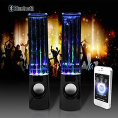 abcGOODefg Wireless Bluetooth 30 Music Fountain Dancing Water Speakers For MP3 MP4 iPhone Black >>> Want to know more, click on the image.