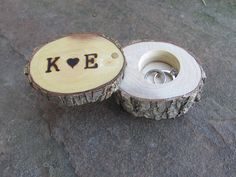 Rustic Ring Bearer Box Wedding Ring Box by FeathersOfTheForest