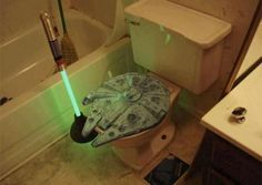 Millennium Falcon toilet with a lightsaber plunger, your argument is invalid