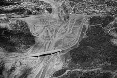 Mulholland Bridge aireal view of construction 1960
