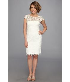 Don a ladylike and luxe Adrianna Papell™ dress.. Gorgeous lace constructs this feminine sheath dre...