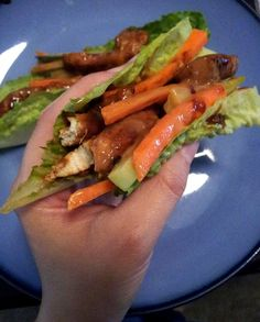 Thai Chicken Lettuce Wraps!!