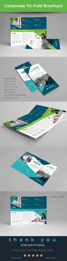 Trifold Brochure — InDesign INDD #business #agency • Available here → https://graphicriver.net/item/trifold-brochure/20871505?ref=pxcr