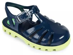 Navy Lime Jelly Shoes