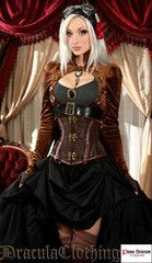 Brown Openbust Steampunk Tailcoat - Dracula Clothing