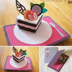 Gallery 2015 - Kagisippo pop-up Origami And Kirigami, Paper Crafts Origami, Fun Fold Cards, Diy Cards, Diy Popup Cards, Diy For Kids, Crafts For Kids, Pop Up Art, Karten Diy
