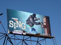 Sing Gorilla Johnny billboard Beverly Boulevard (not Disney but deserves to go with the rest of the Disney movies! Dreamworks Movies, Disney And Dreamworks, Disney Movies, Sing 2016, Buddy Movie, Sing Movie, Illumination Entertainment, Minion Movie, Singing Competitions