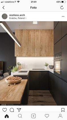 witblad...blackandwood #Modernkitchenpantry