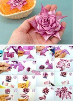 Bellart Atelier: Tres lindas flores de Cetim!