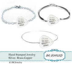 Guitar Pick Bracelet Love you to the moon & back by JSCJewelry, $22.00