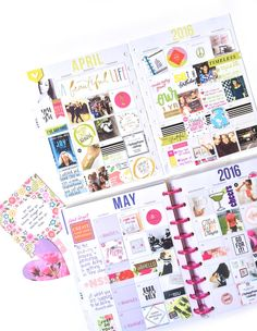 photo-filled monthly spreads in the memory keeping Happy Planner™ of mambi Design Team member Amanda Rose Zampelli | me & my BIG ideas