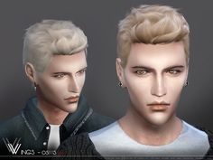 Hair OS1113 M by Wings Sims for The Sims 4
