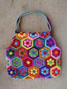Ravelry: crochetbug13's African Flower Mamy Bag