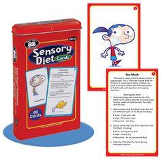 Super Duper's Sensory Diet Cards teach children to regulate their sensory system. #superduperinc