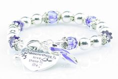 Where There Is Love Cystic Fibrosis Ribbon Bracelet