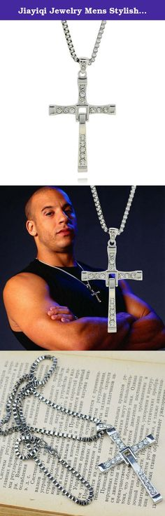 Jiayiqi Jewelry Mens Stylish The Fast And The Furious Cross Diamond Pendant Chain Necklace. Materials: Titanium Steel, Crystal, Alloy Necklace Length: 17.7+2.0(Extended Chain) inches, Pendant Size: 3.0x1.7 inches (1 inch=2.54 cm) Package Including: 1 pc necklace Note: 1.Due to the difference between different monitors, the picture may not reflect the actual color of the item. Please consider this before the purchase. 2.Please allow slight deviation for the measurement data. .
