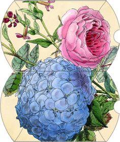 Wild@heart: Friday freebie - hydrangea rose pillow box