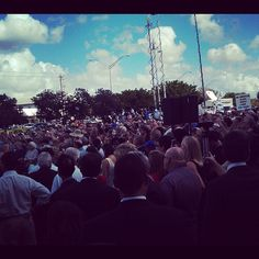 Another huge crowd today in Coral Springs, Florida