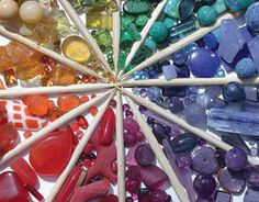 #colorfulworld - bead color wheel, I should consider making my own using beads from the reject pile....