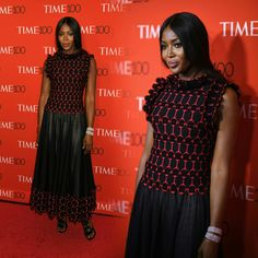 #NaomiCampbell looking beautiful at last night's #Time100 Gala!