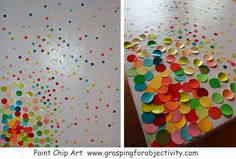 Paint Chip Art. Maybe do it in a rainbow pattern? Grandma Sue would love.