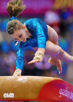 Canadian gymnast Kristina Vaculik performs on the vault in the Artistic Gymnastics discipline in the women's qualificatio Gymnastics Quotes, Artistic Gymnastics, Olympic Gymnastics, Olympic Sports, Gymnastics Girls, Gymnastics Leotards, Gymnastics Posters, Female Gymnast, Sports Images