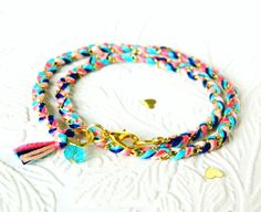 Carnival Candy Swirl Double Wrap Braided Modern Friendship Bracelet. Just $13