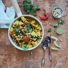 Vanløse blues.....: ALOO GOBI - indisk ret med blomkål og søde kartofler