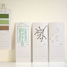blank calendar / decorate your own