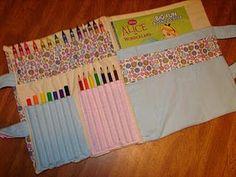 Crayon Holder--A Girl and a Glue Gun | To Sew | Pinterest | Crayon ...