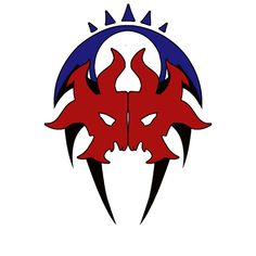 Grixis logo from Skyfolk Studios, by combining the Ravnican guilds Dimir, Izzet and Rakdos. I think this looks particularly fantastic.
