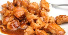 Mennyei Édes-csípős csirke recept! Zseniálisan finom, gyorsan elkészíthető étel. Igazi egzotikus édes-csípős csirke recept! Köretnek főtt rizs és saláta ajánlott. Hogy mennyire legyen csípős, a Tabasco-val lehet szabályozni. Az alap recept mérsékelten csípős. Pork, Chicken, Meat, Ethnic Recipes, Essen, Kale Stir Fry, Pork Chops, Cubs