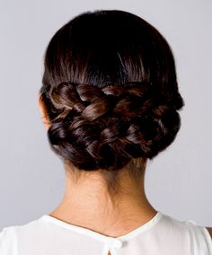 I like the postion of this updo, not the braids