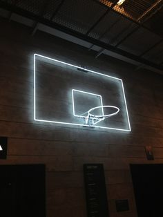 glowing backboard/rim for the basement court. Yes I know this is a neon sign, but I would find a way EL strips or something...