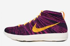 nike flyknit chukka black laser orange grand purple 2 570x379 Nike Lunar Flyknit Chukka   Black   Laser Orange   Grand Purple   Neo Turquoise