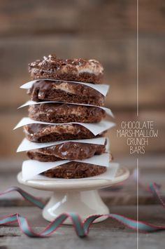 Chocolate Marshmallow Crunch Bars