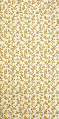 Vintage Wallpaper buttercup per meter #3023