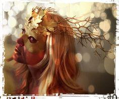 Golden Fawn Masquerade Mask