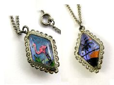 Vintage Double Sided Butterfly Wing Pendant by worn2perfection, $35.00