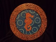 Image result for aboriginal dot painting with seahorse