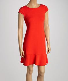 Look at this #zulilyfind! Poppy Coral Cutout Dress by Jemma Apparel #zulilyfinds
