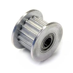 16T GT2 Aluminum Idler Pulley with Dual Ball Bearings 3mm Bore - RepRap Champion  - 1