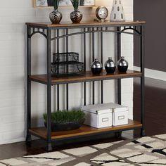 Have to have it. Home Styles Modern Craftsman 3-Tier Multi-Function Shelves - Oak / Brown - $169.99 @hayneedle